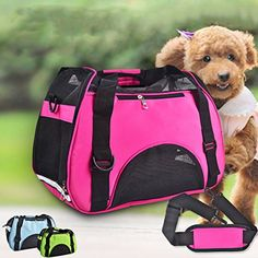 Sunlightam Pet Dog Cat Puppy Travel Carry Bag Tote Carrier Purses Kennel (S, Rose) -- Read more at the image link.