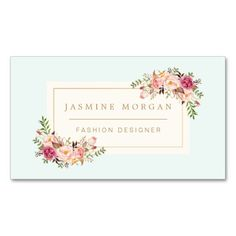 Appointment Card Elegant Pastel Watercolor Floral Double-Sided Standard Business Cards (Pack Of 100)