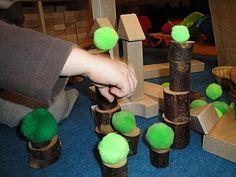 Pom poms with blocks