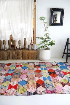 モロッコラグ ボ・シャルウィット ボ・シャラウィット Boucherouite キリム kilim モロッコ 絨緞 ベルベル ベニワレン アジラル