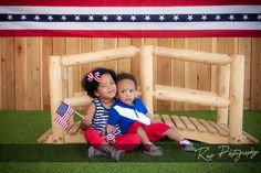 They're ready to celebrate!  #repphotography #fourthofjuly #studioportraits #childrensportraits #childrensphotographer #theav #theblvd