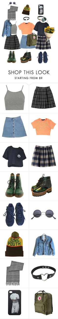 """""""art hoe girl outfits"""" by comacinema ❤ liked on Polyvore featuring Topshop, STELLA McCARTNEY, NIKE, Dr. Martens, Nana', Chanel, R2, Calvin Klein Jeans, BLACK BROWN 1826 and Monki"""