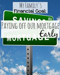 Financial goals can be scary and exciting! This year we are focusing on paying o - Mortgage Payoff Tips - Financial goals can be scary and exciting! This year we are focusing on paying off our house here's how we are doing it! Paying Off Mortgage Faster, Pay Off Mortgage Early, Mortgage Tips, Mortgage Payment, Refinance Mortgage, Mortgage Companies, Ways To Save Money, Money Saving Tips, Money Tips