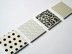 DIY Tile Coasters. Makes for great gifts.