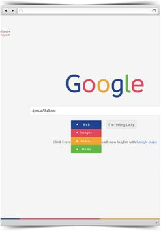 Google - Redesign Concept + Freebie by Ayman Shaltoni, via Behance