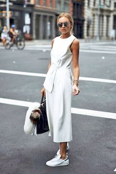 Culotte Jumpsuit and Vintage Trainers