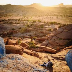 Sun set at the blue rocks Morocco by vandogtraveller