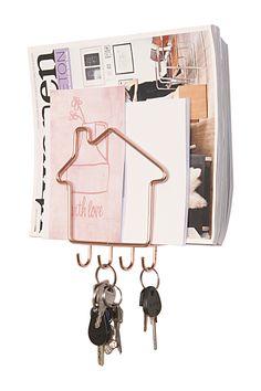 porte cl s mural en bois 8 accroches key deco. Black Bedroom Furniture Sets. Home Design Ideas