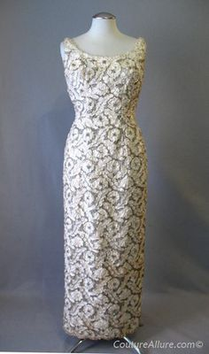 Vintage 60s Dress Evening Bridal Gown Small bust 37 at Couture Allure Vintage Clothing