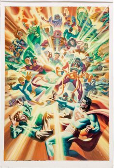 """travisellisor: """" variant cover to Convergence #6 by Steve Rude """""""