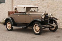 "Ford Model ""A"" Roadster. From experience, this is a fun car to ride in! My Aunt and I wrote a song wile riding in the rumble seat in one similar to this one. Retro Cars, Vintage Cars, Antique Cars, Ford Roadster, Car Ford, Autos Ford, Truck Camper Shells, Peugeot, Lamborghini"