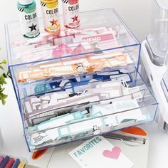 Using High Quality Storage to Improve Your Memory Keeping – Scrapbookdotcom and Deflecto Craft Room Storage, Cube Storage, Craft Organization, Washi Tape Storage, Scrapbook Storage, My Workspace, Scrapbooking, Storage Solutions, Storage Ideas