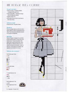 Les Brodeuses Parisiennes / mag.  Creation Point de Croix 53 / I love Couture