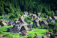 Shirakawa-go village in Summer, Japan