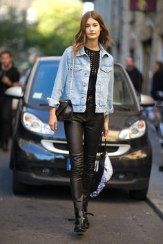 The Best Model-Off-Duty Style at Fashion Week: On the runways, designers dictate the dress code; but on the streets, it's all about the model-off-duty vibe.