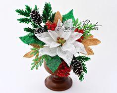 Handmade beaded flowers