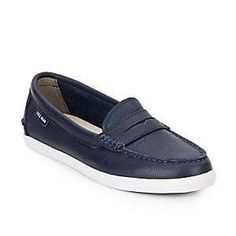 Cole Haan 'Nantucket' leather loafers in peacoat