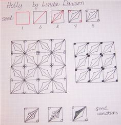 How to draw HOLLY « TanglePatterns.com