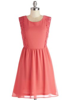 Wedding Bridesmaid Brunch. Luncheon, Breakfast Buffet. Also not a wedding color, exactly, but perfect in perhaps every other way. Champagne Brunch Dress, #ModCloth