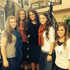 Duggar girls 2013. Joy, Jessa, Jinger, Jill, and Jana.