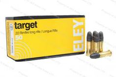 22LR Eley Target 40gr Solid Point Lead Ammo, 50rd Box.