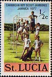 St Lucia 1977 Scouts Mint SG 448 Scott 419 Other West Indies and British Commonwealth Stamps HERE!
