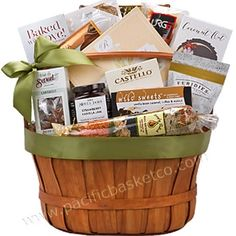 Country Living gift basket filled with comfort foods everyone will love. It's the perfect Get well gift, always appreciated as a Sympathy basket, and a great gift to show you care. Gourmet Gift Baskets, Gourmet Gifts, Gourmet Recipes, Get Well Gifts, Corporate Gifts, Comfort Foods, Country Living, Fresh Fruit, Customized Gifts