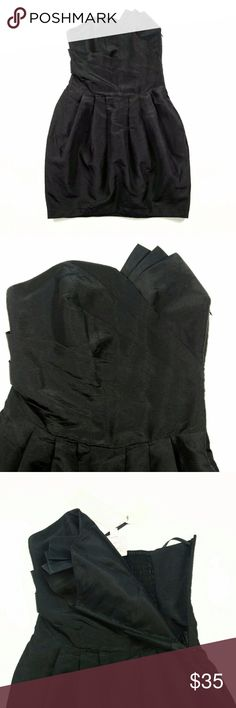 Romeo & Juliet Little Black Dress Mini Strapless S NWT Romeo & Juliet Couture Little Black Dress Mini Strapless Draped Tulip Skirt  Sz. SMALL Romeo & Juliet Couture Dresses Strapless