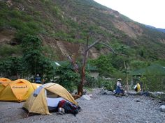 First campsite,on the banks of the Apurimac river.