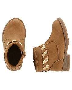 OshKosh Braided Booties from Carters.com. Shop clothing & accessories from a trusted name in kids, toddlers, and baby clothes.
