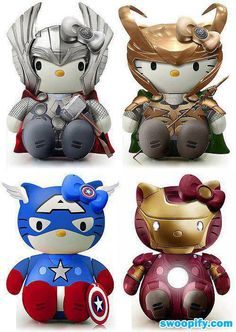 @Jaime Williams Haha, a little something for Con and Ava  Hello Kitty Avengers #humor #lol #funny