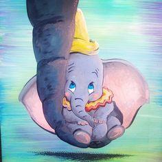 Dumbo on canvas, Acrylic painting
