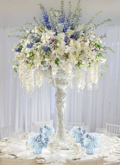 best flowers for wedding centerpieces bridal flowers - Page 57 of 84 - Wedding Flowers & Bouquet Ideas Winter Centerpieces, Tall Wedding Centerpieces, Flower Centerpieces, Wedding Decorations, Tall Centerpiece, Centrepieces, Aisle Decorations, Centerpiece Ideas, Floral Wedding