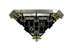 #LaserTerrain Black edition corner piece - metal look sides and precision etched floor design #infinitythegame #tabletopgaming #spacehulk #bgg #malifaux #dungeonsanddragons