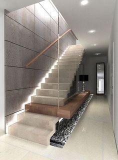 見せ場は階段。 | Modern Glamour モダン・グラマー <美とクローゼットの法則> Staircase Interior Design, Luxury Staircase, Home Stairs Design, Home Building Design, Home Room Design, Stair Design, Stairs Architecture, Modern Architecture House, Dream House Interior