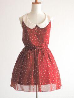 INGNI Autumn Winter Preppy Bordeaux OP Dress Party Hime gyaru Lolita SizeF Japan #INGNI #PeplumTunic #Party