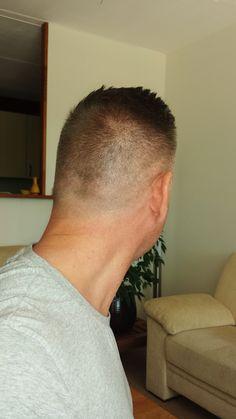Very short hair cut