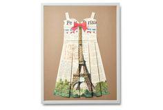 OneKingsLane: Folded Paper Dress, Eiffel Tower, by Dawn Wolfe Design