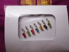 Colorful Bindis for Bridal Makeup. by BindisRUs on Etsy, $6.99