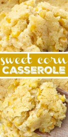 Classic sweet corn casserole is a comforting side dish that is also great for a .Classic sweet corn casserole is a comforting side dish that is also great for a Holiday dinner. This corn casserole uses creamed corn, gold n' white corn, sour cream, Yummy Recipes, Tart Recipes, Baby Food Recipes, Mexican Food Recipes, Appetizer Recipes, Baking Recipes, Snack Recipes, Yummy Food, Recipes Dinner