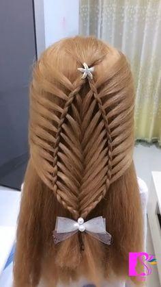 Hairstyle Tutorial:Braids Hairdo For Long Hair, Easy Hairstyles For Long Hair, Braided Hairstyles, Hair Up Styles, Medium Hair Styles, Natural Hair Styles, Hair Style Vedio, Braid Accessories, Hair Videos