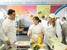 """A day at Carpigiani Gelato University in Bologna - Students in the Gelato Lab"" by @JeanetteKramer"