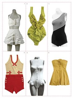 vintage bathing suits to reproduce and frame