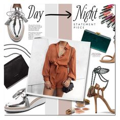 """Day To Night"" by fyenksfiona ❤ liked on Polyvore featuring Isabel Marant, Loeffler Randall, Tiffany & Co., Edie Parker, DayToNight and romper"