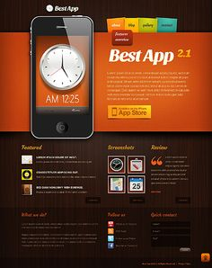 Check the tech characteristics, testimonials and hosting requirements before you buy this professional Mobile Apps Drupal Template ( Enjoy straightforward yet robust design. Themes For Mobile, Iphone Layout, Web Design Software, Drupal, Your Design, Design Web, Web Design Inspiration, Website Template, Flyer Template