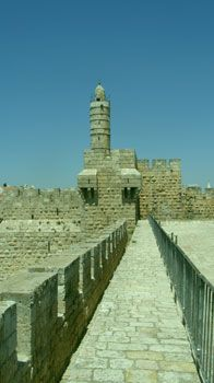 The Tower of David, seen from the Ramparts of the Old City of Jerusalem.