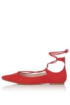 FINEST Ghillie Lace-Up Flats