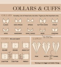 Collars & Cuffs Reference