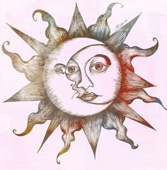 Image via We Heart It #indie #sun #moonart