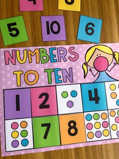 Numbers to 10 kindergarten counting math station. Your kiddos will love completing these interactive math activities in independent or small group settings. This pack features 8 stations designed for Kindergarten students which allow them to practice numbers to 10, numbers to 20, addition to 10, subtraction to 10, 2D + 3D shapes and base ten blocks.